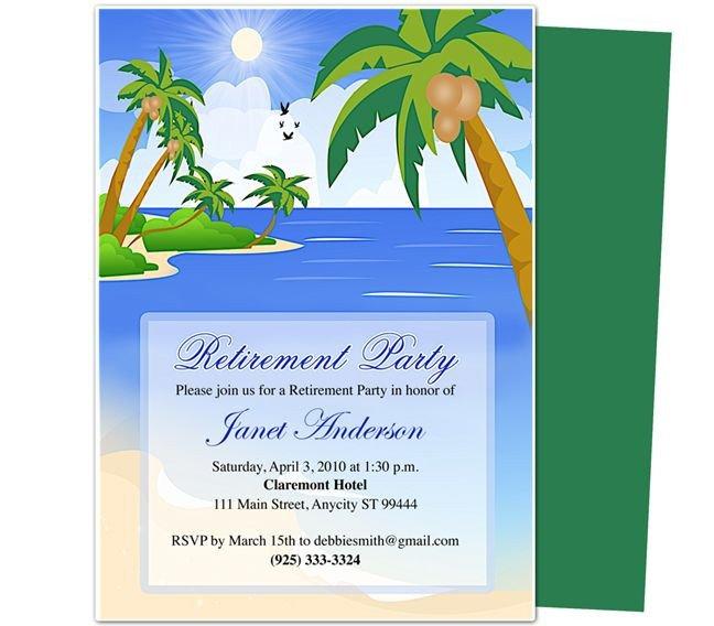 Free Retirement Invitation Templates Retirement Templates Paradise Retirement Party
