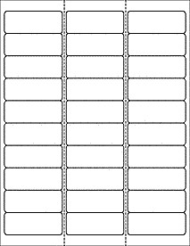 "Free Return Label Template Address Labels 30 Per Sheet 1 X 2 5 8 Ol875 2 625"" X 1"""