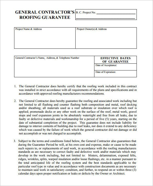 Free Roofing Contract Template 15 Roofing Contract Templates Word Pdf Google Docs