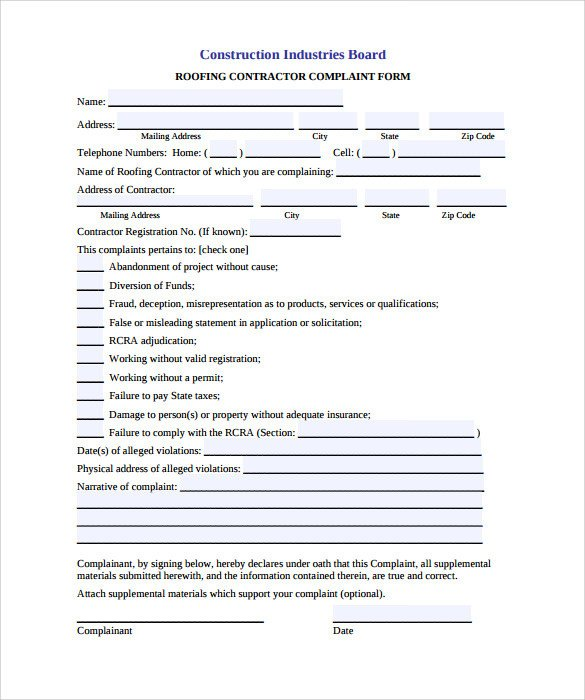 Free Roofing Contract Template Roofing Contract Template 9 Download Documents In Pdf