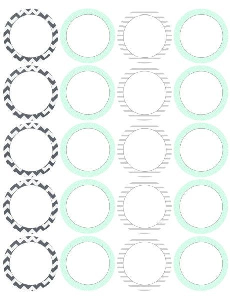 Free Round Label Templates 17 Best Round Labels and Round Label Template Printables