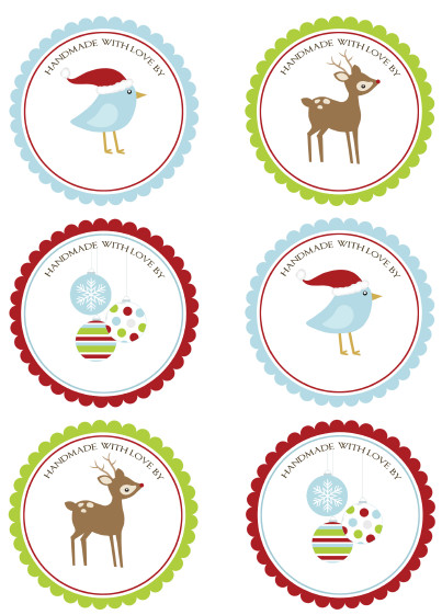 Free Round Label Templates Christmas Labels for Free by Ink Tree Press