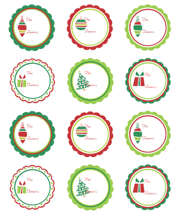 Free Round Label Templates Christmas Labels Ready to Print