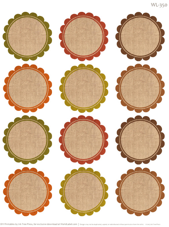 Free Round Label Templates Free Labels for Thanksgiving Leftovers & Digital Papers