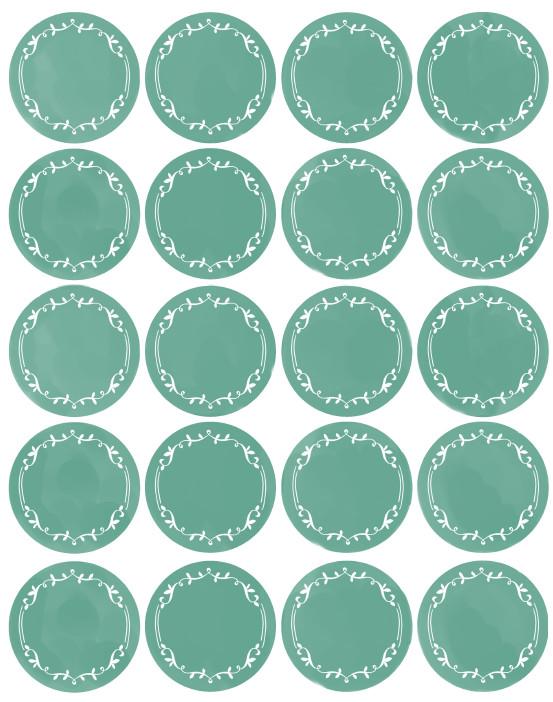 Free Round Label Templates Kitchen Spice Jar & Pantry organizing Labels
