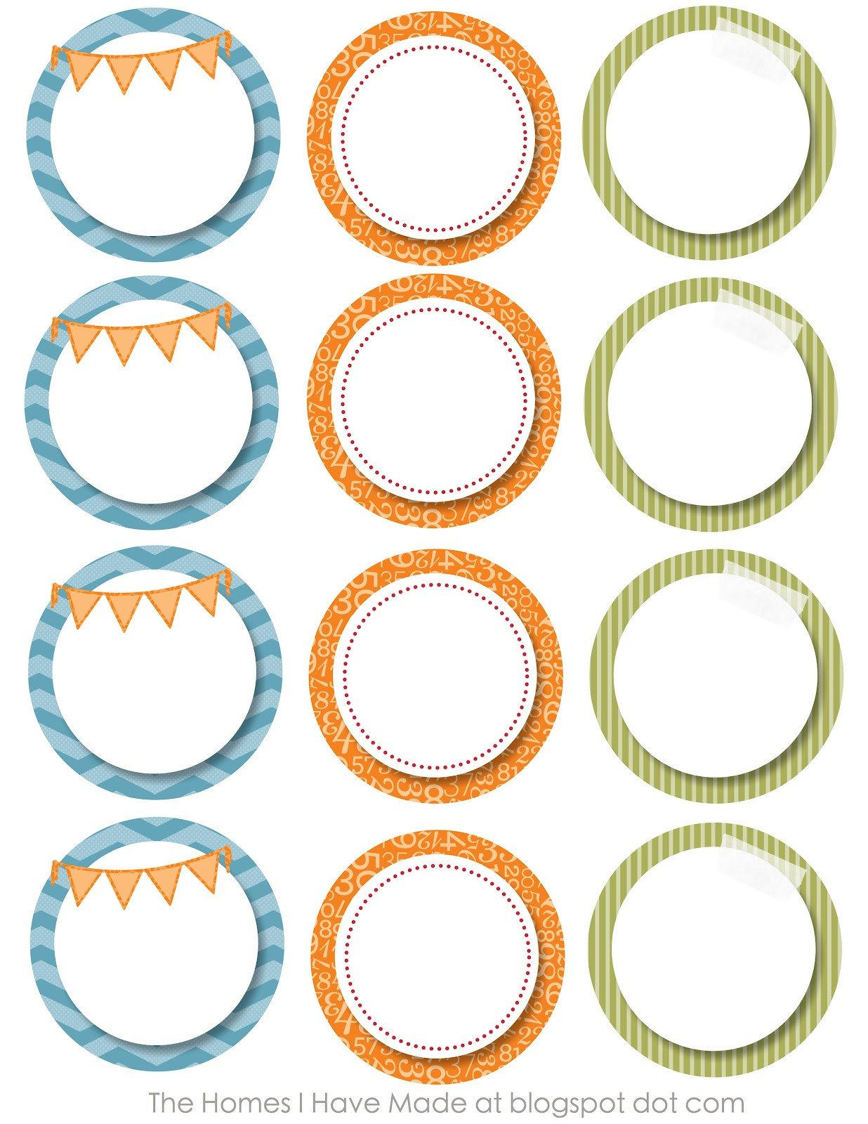 Free Round Label Templates Monster Party Printables
