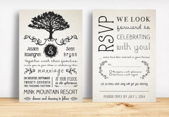 Free Rustic Wedding Invitation Templates 28 Rustic Wedding Invitation Design Templates Psd Ai