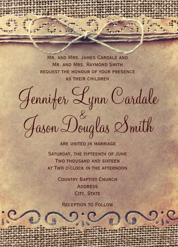 Free Rustic Wedding Invitation Templates 28 Rustic Wedding Invitation Design Templates Psd Ai