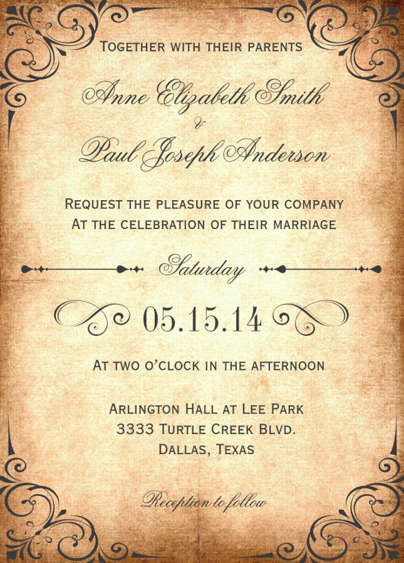 Free Rustic Wedding Invitation Templates 28 Wedding Invitation Wording Templates – Free Sample