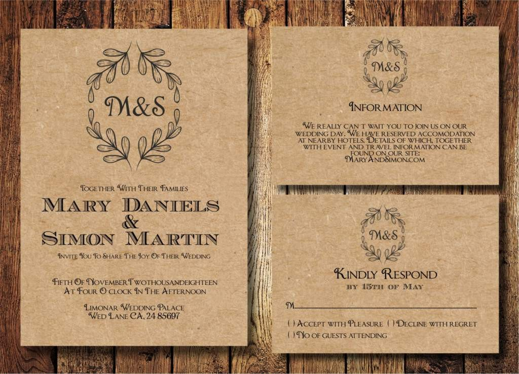 Free Rustic Wedding Invitation Templates Country Wedding Invitation Templates Free