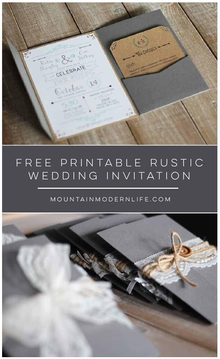 Free Rustic Wedding Invitation Templates Free Chalkboard Love Quote Printable