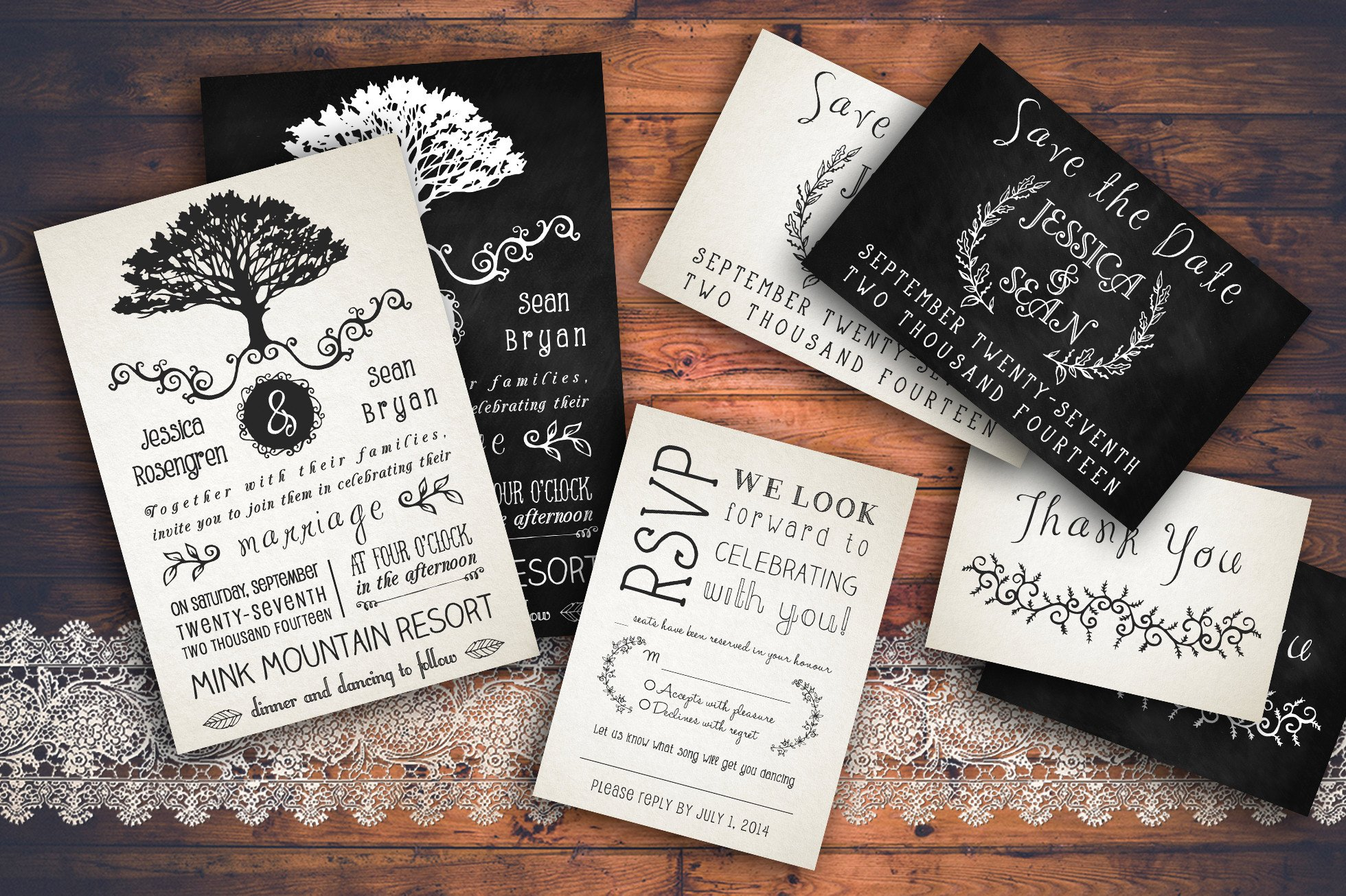 Free Rustic Wedding Invitation Templates Rustic Wedding Invitation Pack Invitation Templates On