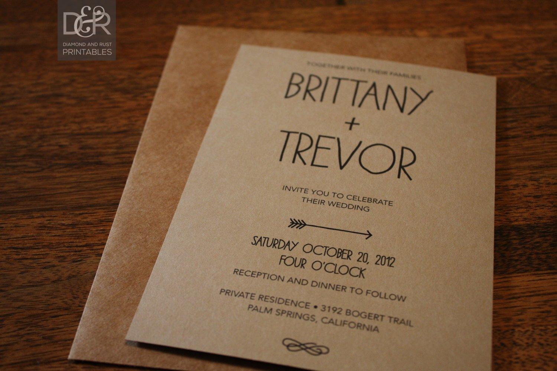 Free Rustic Wedding Invitation Templates Rustic Woodsy Printable Wedding Invitation Suite by