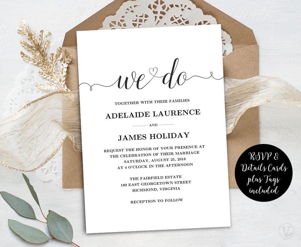 Free Rustic Wedding Invitation Templates Wedding Invitation Template Rustic Wedding Invitations Kraft