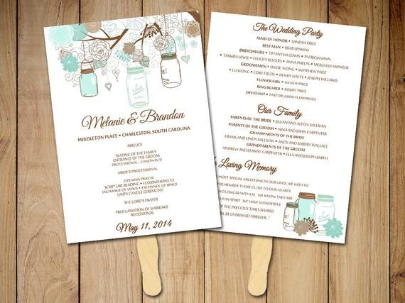 Free Rustic Wedding Program Templates Diy Wedding Program Fan Template Rustic Ceremony Program
