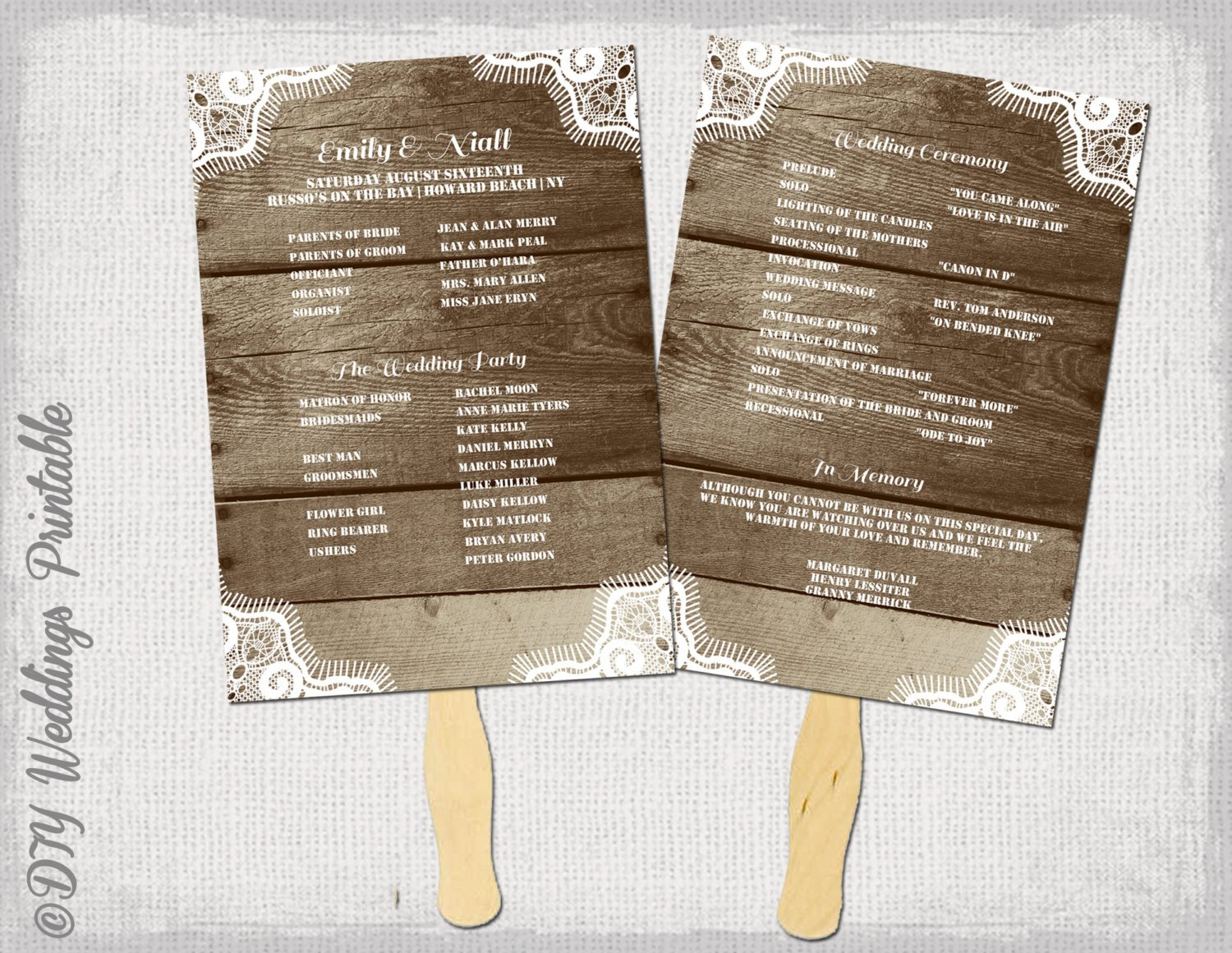 Free Rustic Wedding Program Templates Rustic Wedding Program Template Fan Wedding Programs