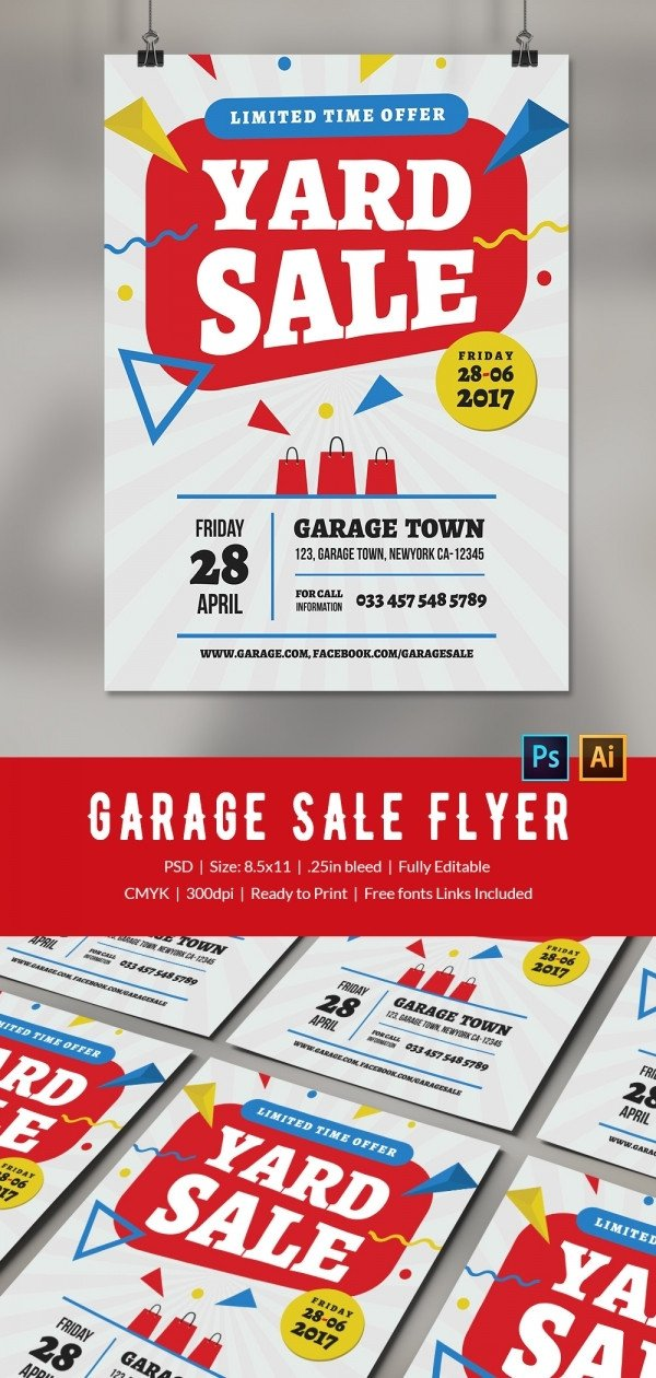 Free Sale Flyer Template 14 Best Yard Sale Flyer Templates & Psd Designs