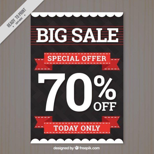 Free Sale Flyer Template Modern Big Sale Flyer Template Vector