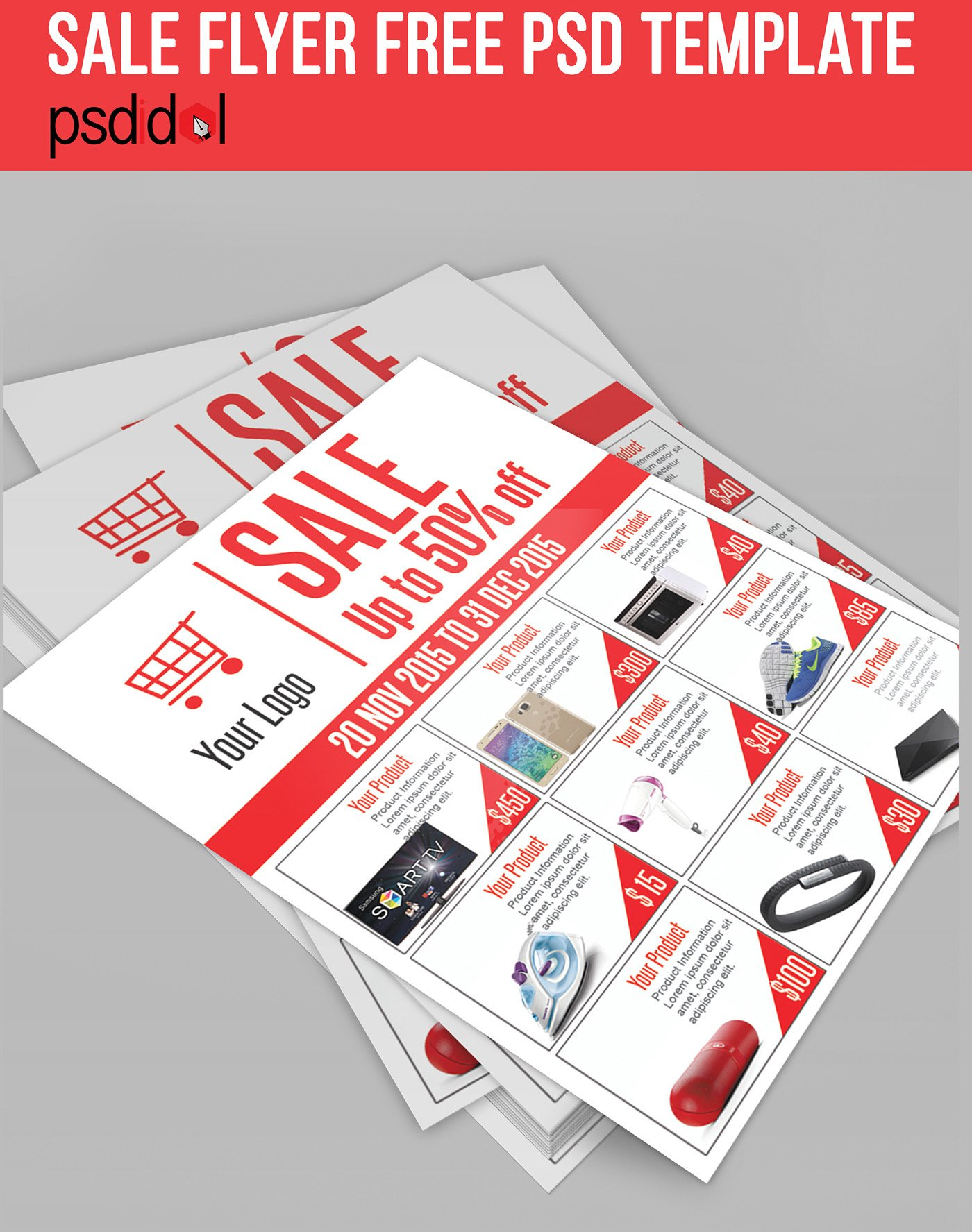 Free Sale Flyer Template Sale Flyer Free Psd Template Download On Behance