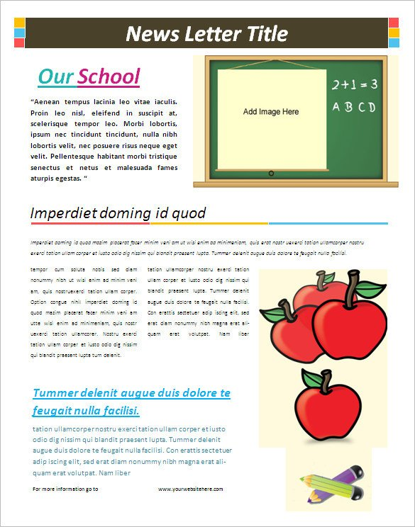 Free School Newsletter Templates 5 School Newsletter Templates Doc Pdf