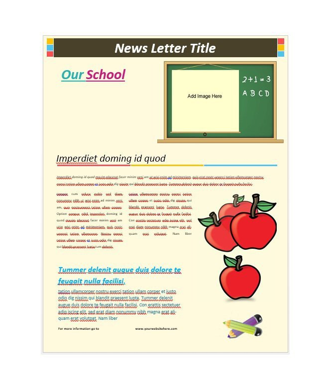 Free School Newsletter Templates 50 Free Newsletter Templates for Work School and
