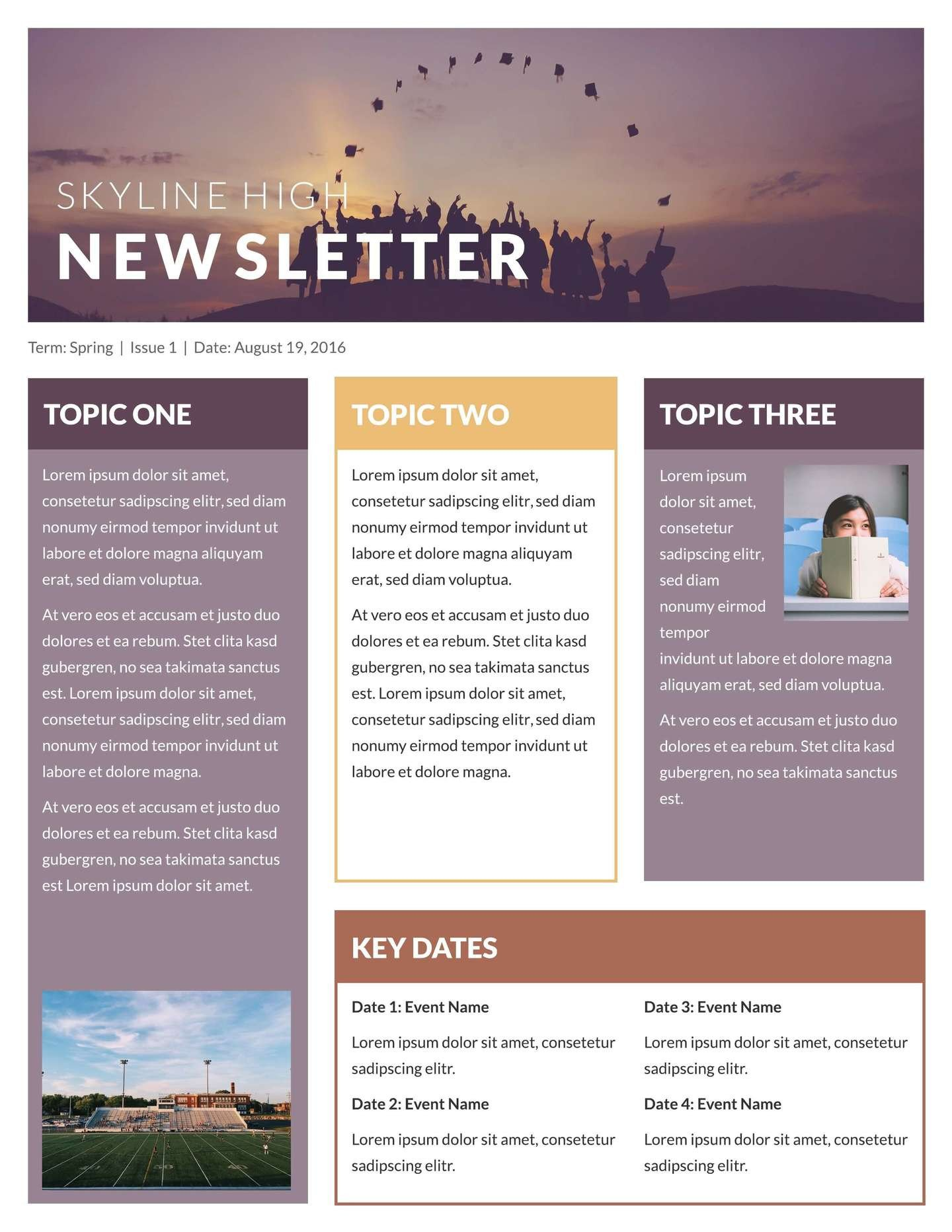 Free School Newsletter Templates Free Printable Newsletter Templates & Email Newsletter
