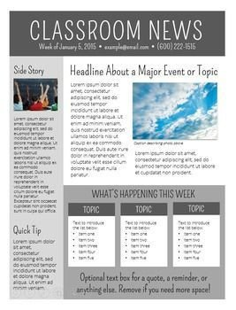 Free School Newsletter Templates Newsletter Templates Editable Class News