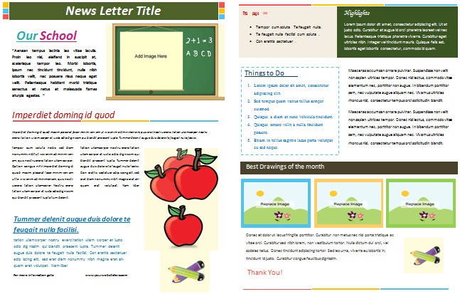 Free School Newsletter Templates School Newsletter Templates for Classroom and Parents