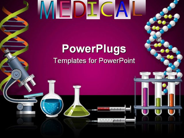 Free Science Powerpoint Templates Science and Genetics Icons Dna Strand and Laboratory