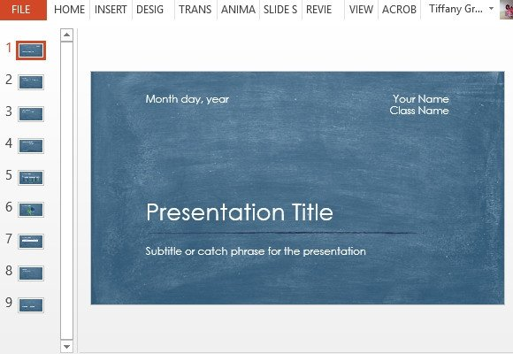 Free Science Powerpoint Templates Student Scientific Report Powerpoint Template