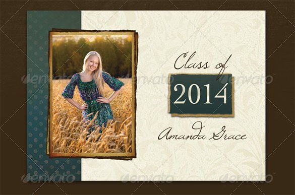 Free Senior Templates for Photoshop 20 Fantastic Psd Graduation Announcement Templates