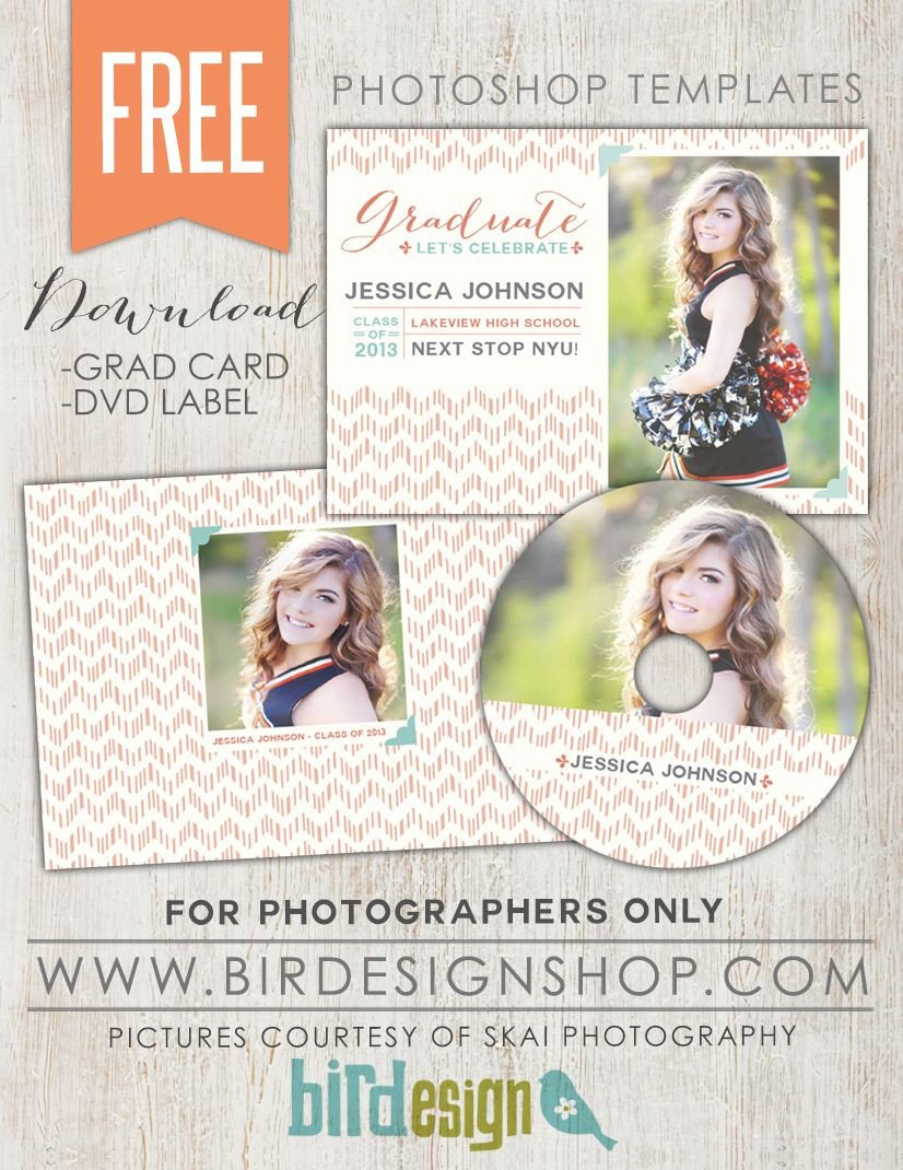 Free Senior Templates for Photoshop August Free Shop Template