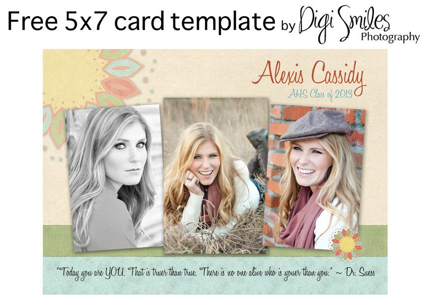Free Senior Templates for Photoshop Free Card Template for Shop – Drop In Your Photos and