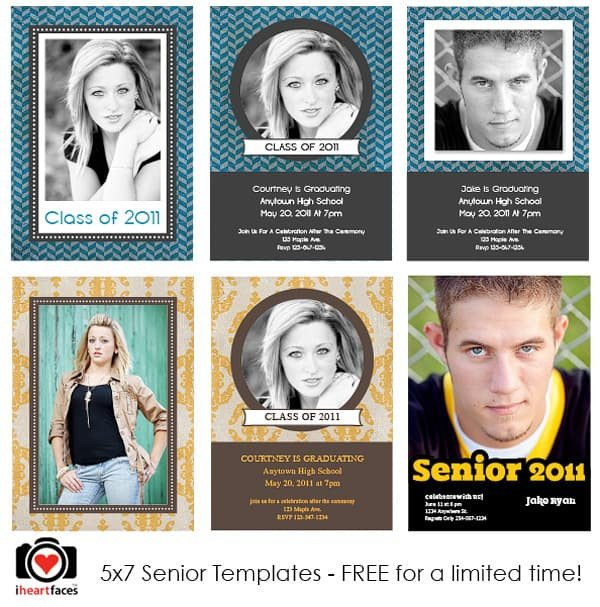 Free Senior Templates for Photoshop Free Graduation Shop Templates