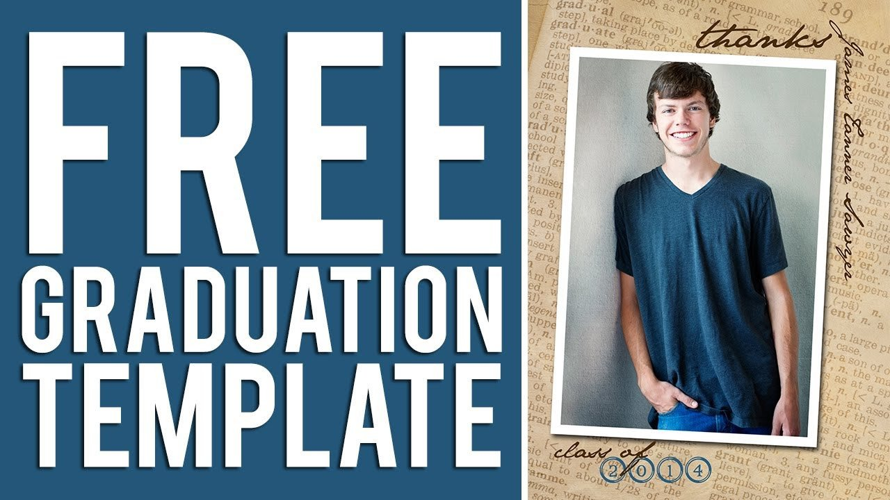 Free Senior Templates for Photoshop Free Graduation Templates Tutorial Shop & Elements