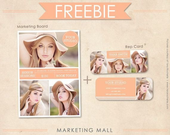 Free Senior Templates for Photoshop Free Senior Rep Card Template and Marketing Board