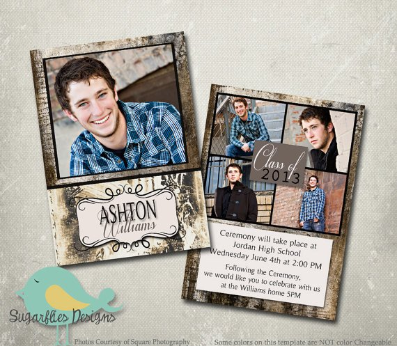 Free Senior Templates for Photoshop Graduation Announcement Photoshop Template Senior Graduation