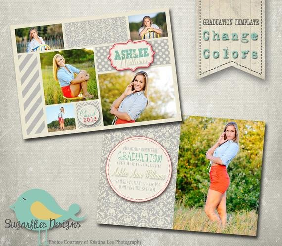 Free Senior Templates for Photoshop Graduation Announcement Photoshop Template Senior