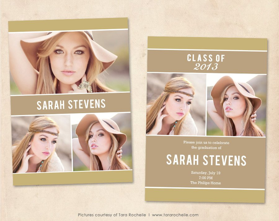 Free Senior Templates for Photoshop Graduation Announcement Template Shop Senior