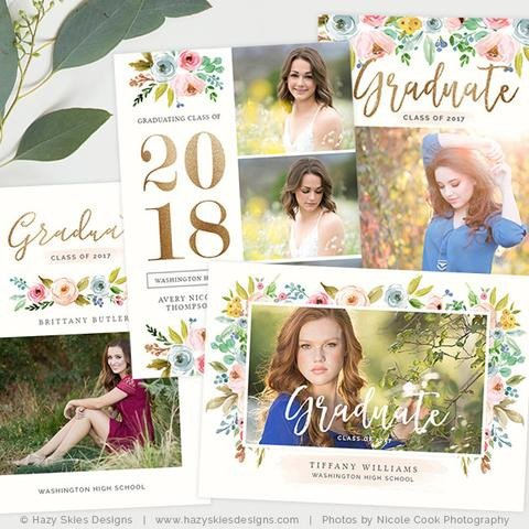 Free Senior Templates for Photoshop Graduation Announcement Templates