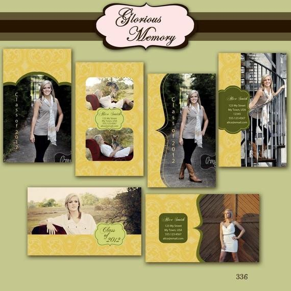 Free Senior Templates for Photoshop Items Similar to Senior Rep Card Graduation Announcement