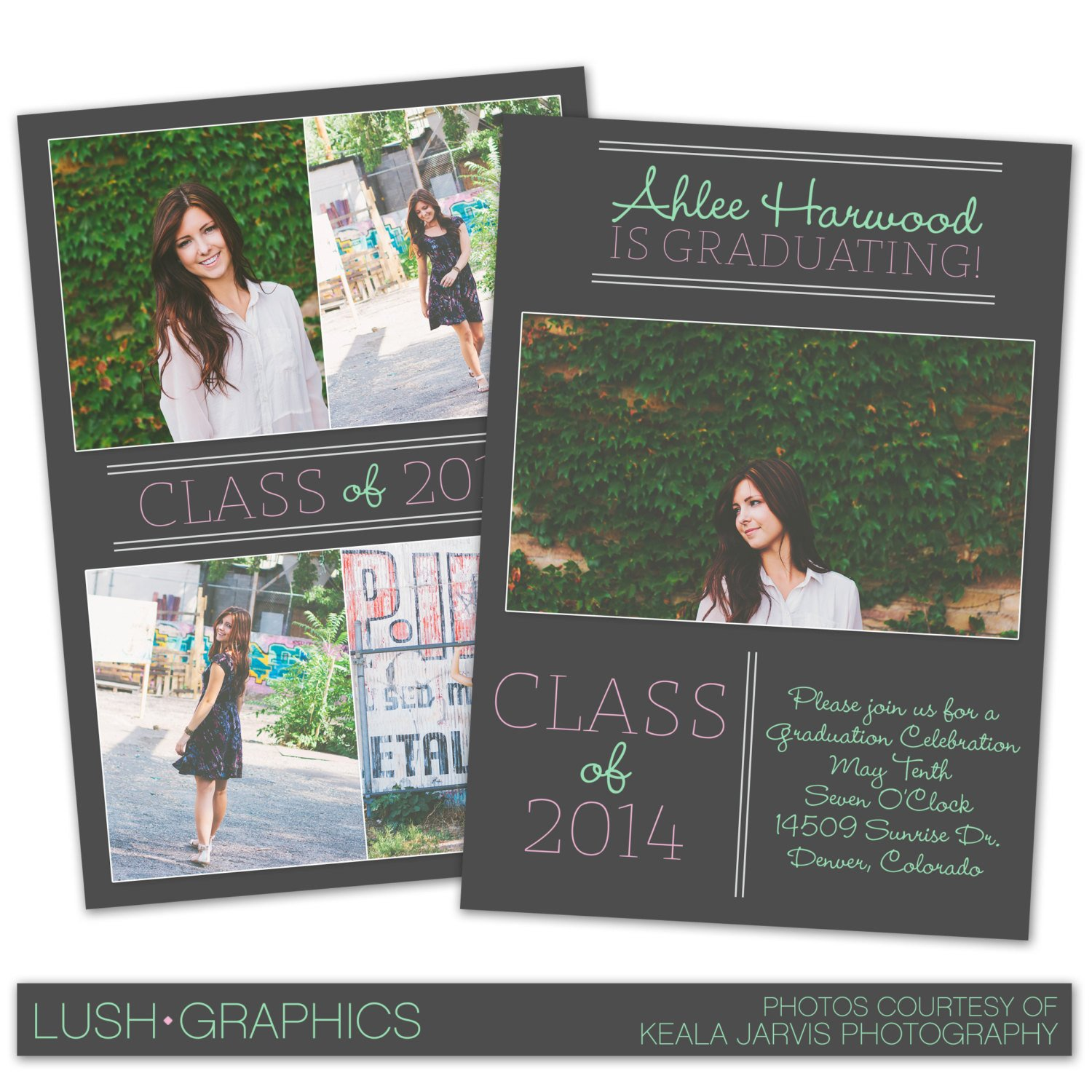 Free Senior Templates for Photoshop Psd Shop Template Senior Graduation Announcement Card