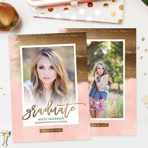 Free Senior Templates for Photoshop Senior Graduation Templates