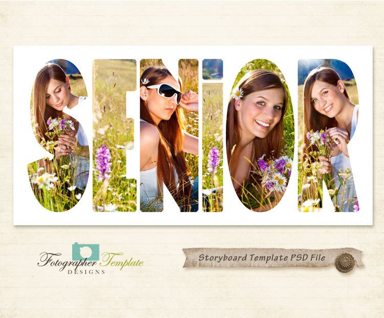 Free Senior Templates for Photoshop Senior Graphy Storyboard Templates 10x20 Psd Shop