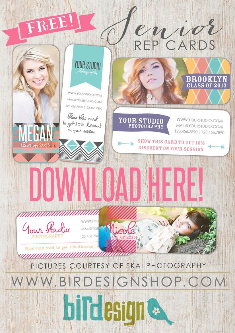 Free Senior Templates for Photoshop Senior Rep Cards On Pinterest