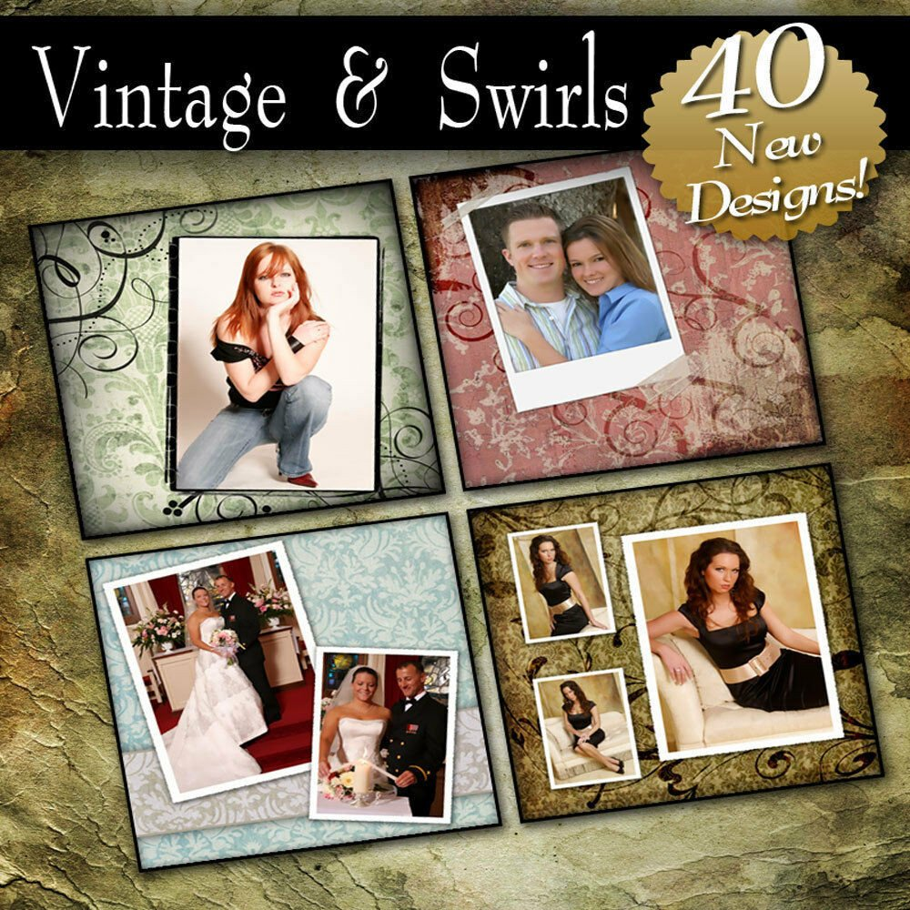 Free Senior Templates for Photoshop Vintage & Swirls Pro Photoshop Templates Senior
