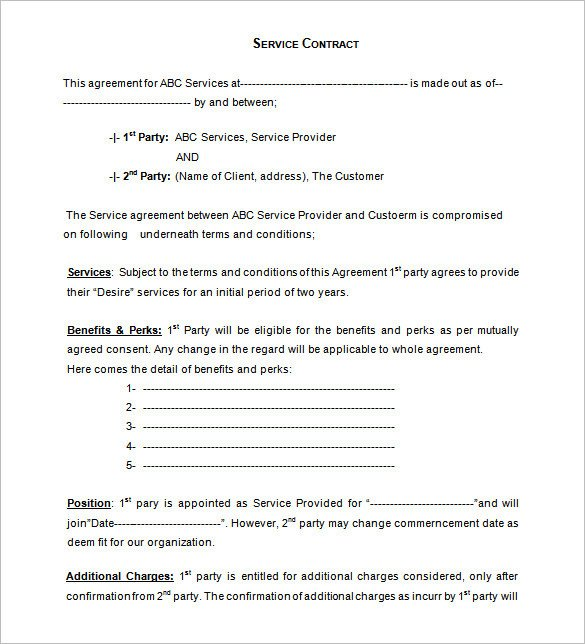 Free Service Contract Template 16 Service Contract Templates Word Pages Google Docs
