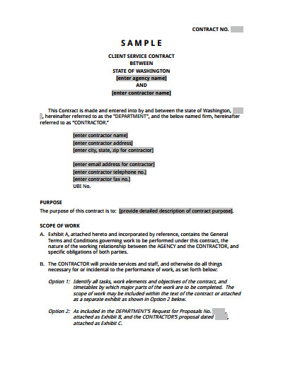 Free Service Contract Template Service Agreement Template Free Download Create Edit