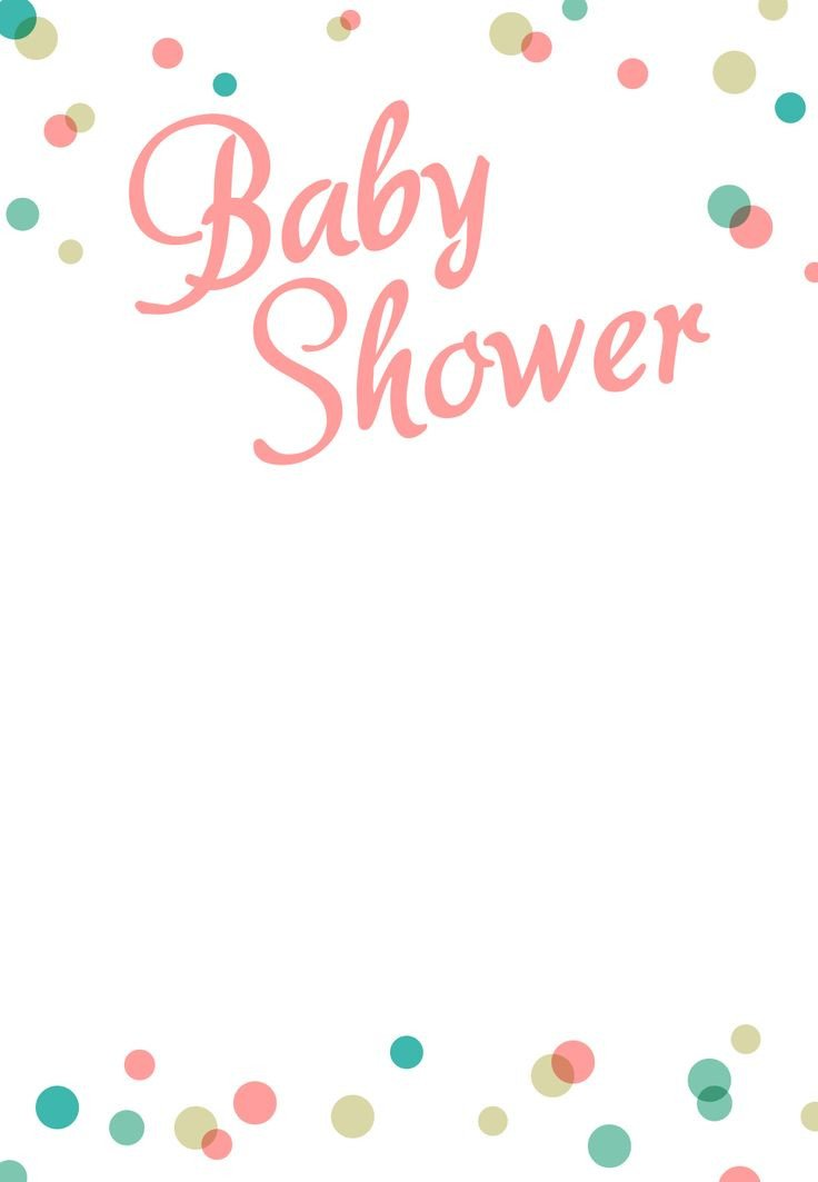 Free Shower Invitation Template Dancing Dots Borders Free Printable Baby Shower