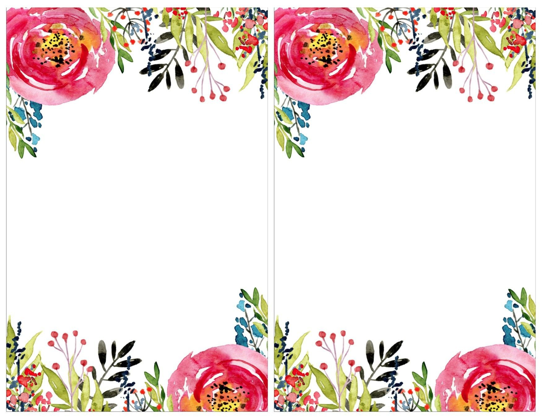 Free Shower Invitation Template Floral Invitation Template Free Printable